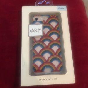 Sonix iPhone 7 cases- rainbows transparent Love